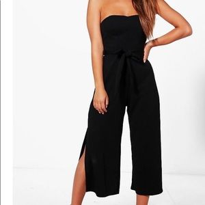 Pants - Black belted jumpsuit
